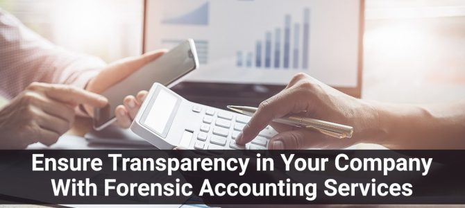 Ensure Transparency in Your Company With Forensic Accounting Services